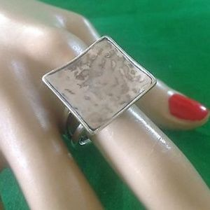 Silpada retired square ring. Size 8
